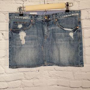 GAP Distressed Jean Skirt